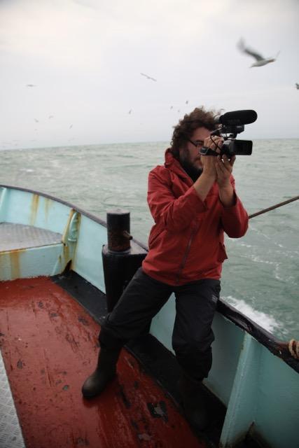 © Filip De Bodt van Climaxi tijdens opnames