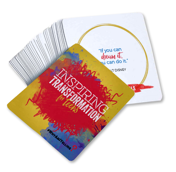 """Inspiring Transformation"" For Teens Affirmation Card Deck"