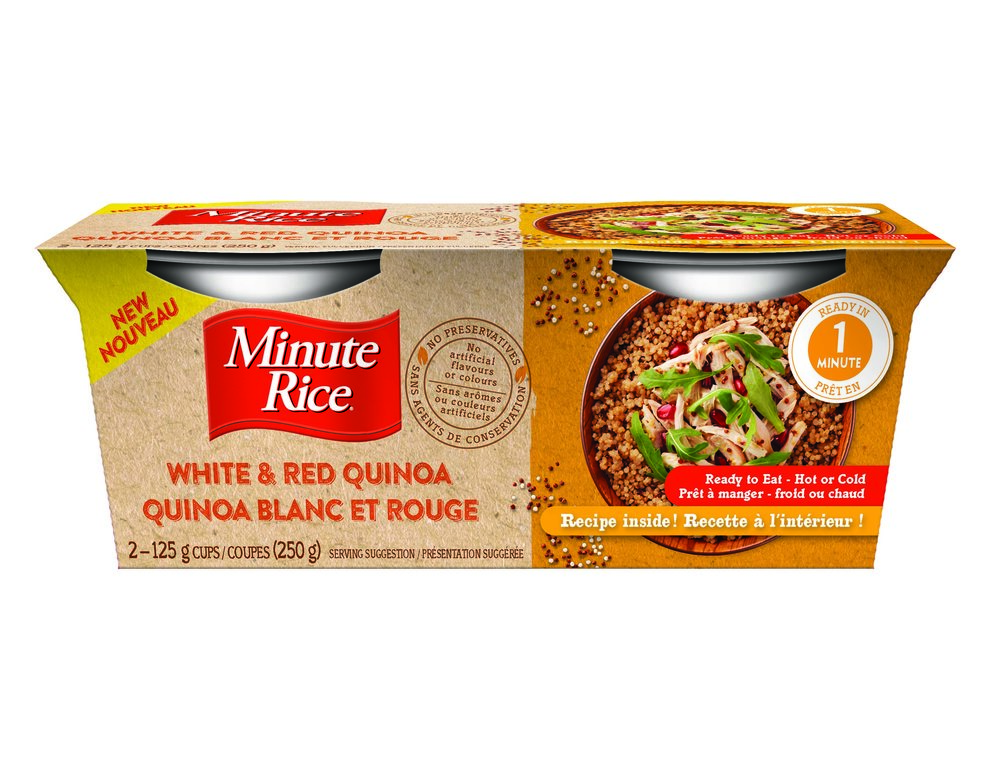 Minute Rice Ready To Serve Cups - White & Red Quinoa & Brown Rice with Wheat, Rye, Quinoa, Oats and Barley