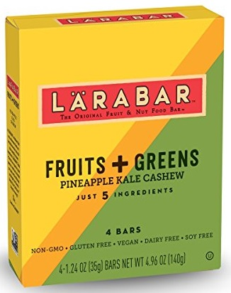 Larabar Fruits + Greens Pineapple Kale Cashew Bar