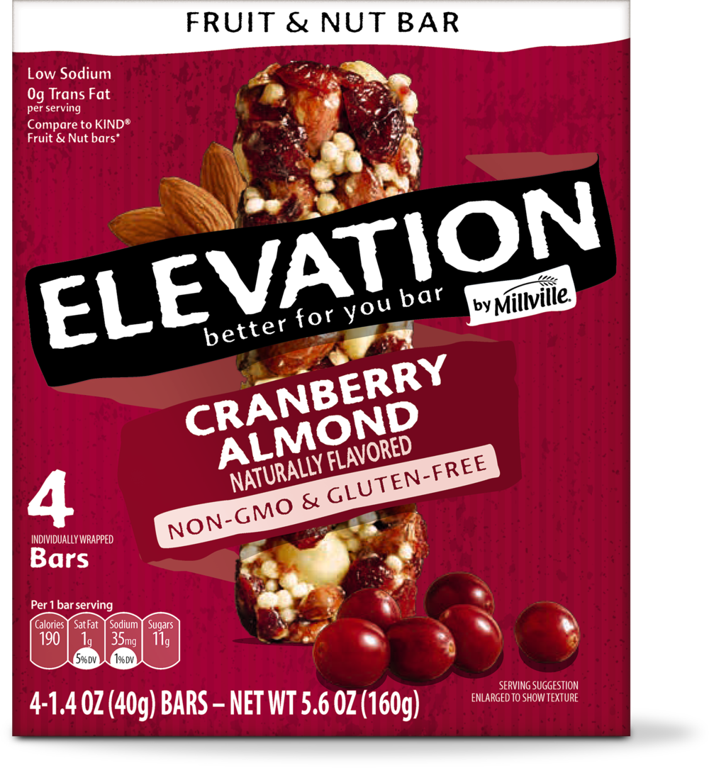 ALDI Elevation by Millville Fruit & Nut Bars