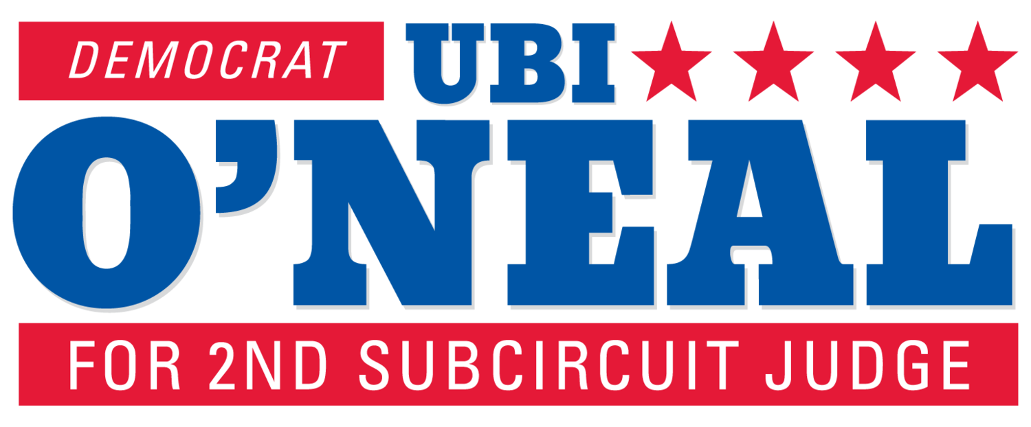 Ubi O'Neal for 2nd Subcircuit Judge | Democrat