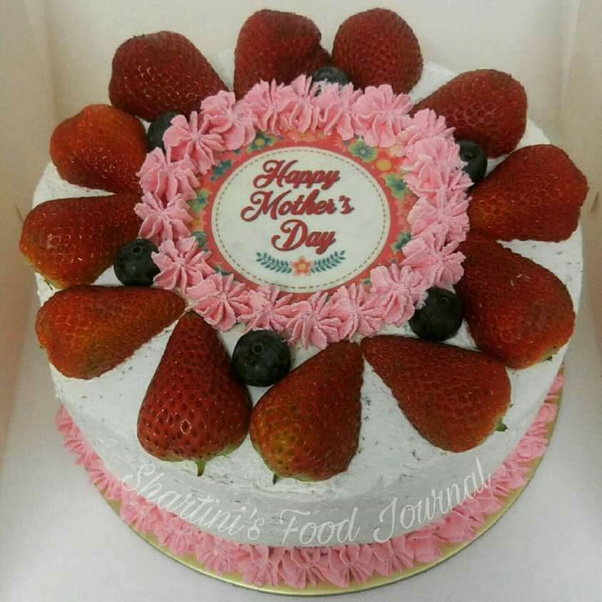 Fully Decorated Strawberry Cake