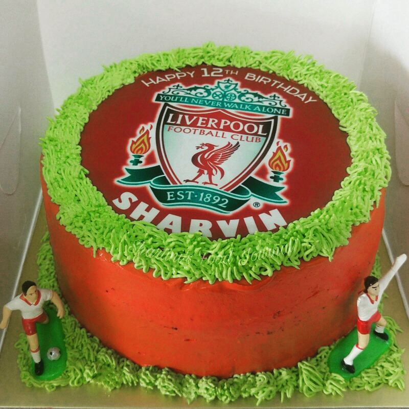 Customised Liverpool Birthday Cake