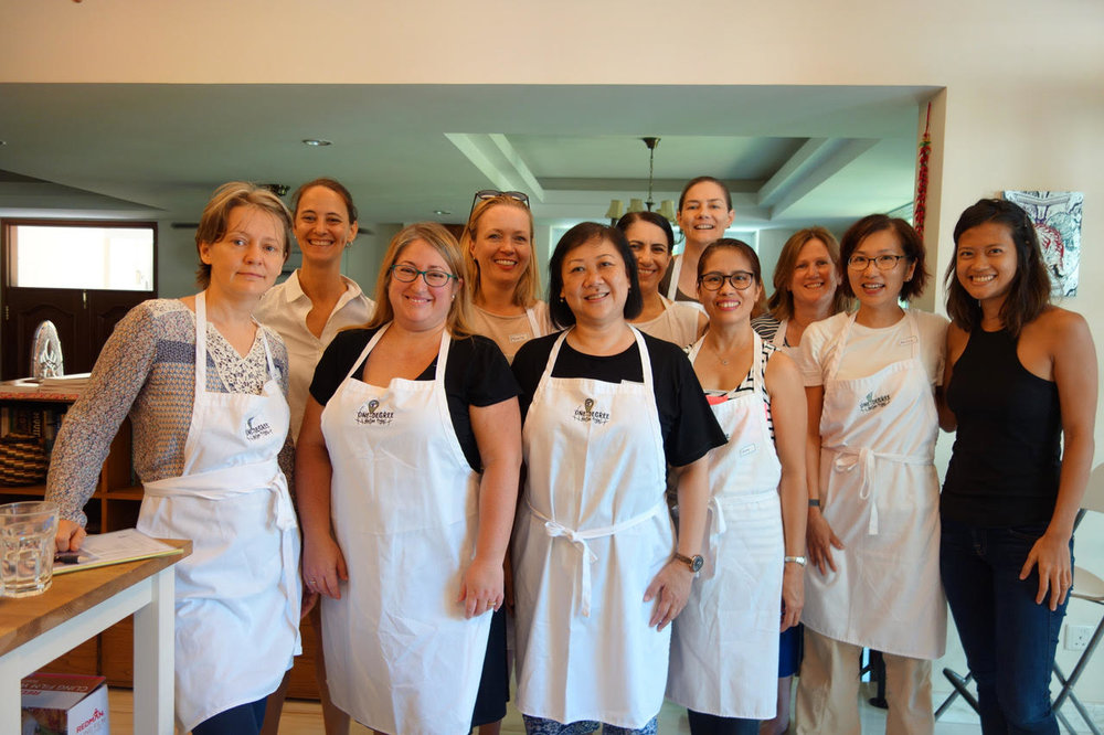 Participants in 1°GF's baking class