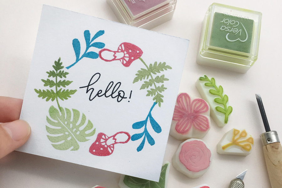 Secret Garden Botanical Stamps with ParadeMade