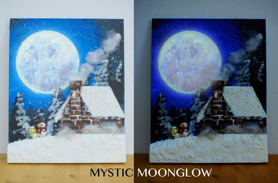 Mystic Moon Glow Painting