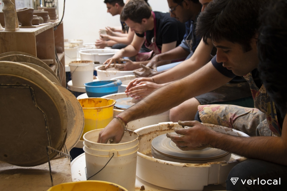 One of our ceramics workshops in San Francisco.