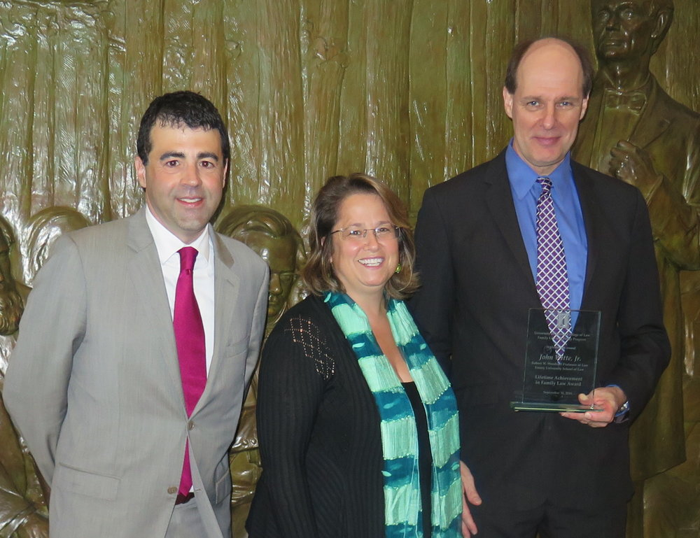 Fam law Witte lifetime achievement receiving award.JPG