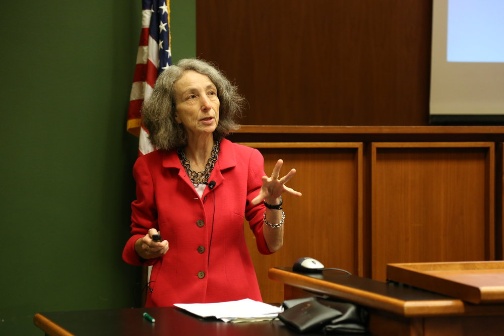 Professor Naomi Cahn, recipient of the 2017 Annual Lifetime Achievement Award in Family Law, Sept. 14, 2017.