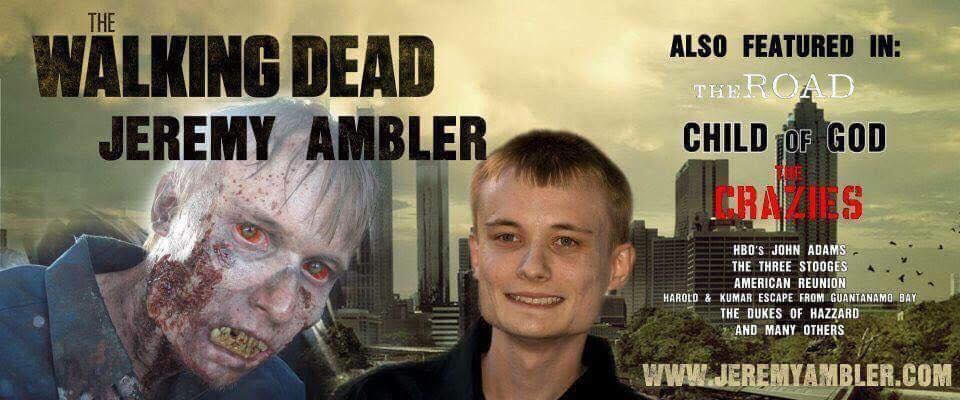 Jeremy Ambler - Ok Walking Dead fans....this ones for you! We would like to take a moment to welcome Jeremy Amblerto WillCon!Jeremy is an actor from West Virginia that has appeared in numerous Motion Pictures, TV Shows and Independent Films. One of his most famous role was a lead zombie in the hit AMC television show The Walking Dead.