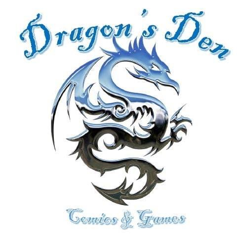 Dragon's Den - Dragon's Den (DD) is a veteran owned business staffed entirely by national guard soldiers. They sell comics, graphic novels, trading card games, role playing games with accessories (dice, miniatures and manuals), miniature games (Warhammer 40k, Malifaux, & Star Wars X-Wing), and various other board games.Some of the products they plan on bringing to WillCon are:1) Magic the Gathering2) Yu-Gi-Oh3) Cardfight Vanguard4) Force of Will5) Deck boxes & sleeves6) RPG dice & bags7) RPG books8) Warhammer kits9) Malifaux kits10) Star Wars X-Wing kits and expansionsAnd more!Please be sure to stop by their booth and check them out! Also if you are in the Beckley area, stop in and see them they can be found at: Dragon's Den Comics & Games350 N Vance Dr.Beckley, WV 25801304-837-6005