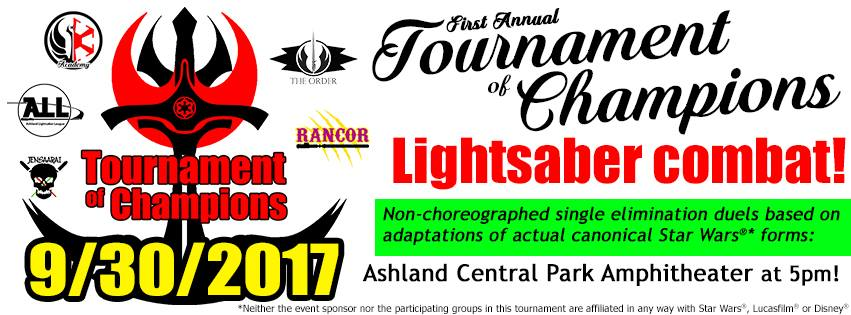 Odd Todd's Tournament of Champions - Did you know the basic fighting forms used in lightsaber combat have real-world roots in martial arts? Influences from escrima, wushu, fencing, kenjutsu, and many more can be found woven into the 7 foundational forms of lightsaber combat. On August 26th, duelists from