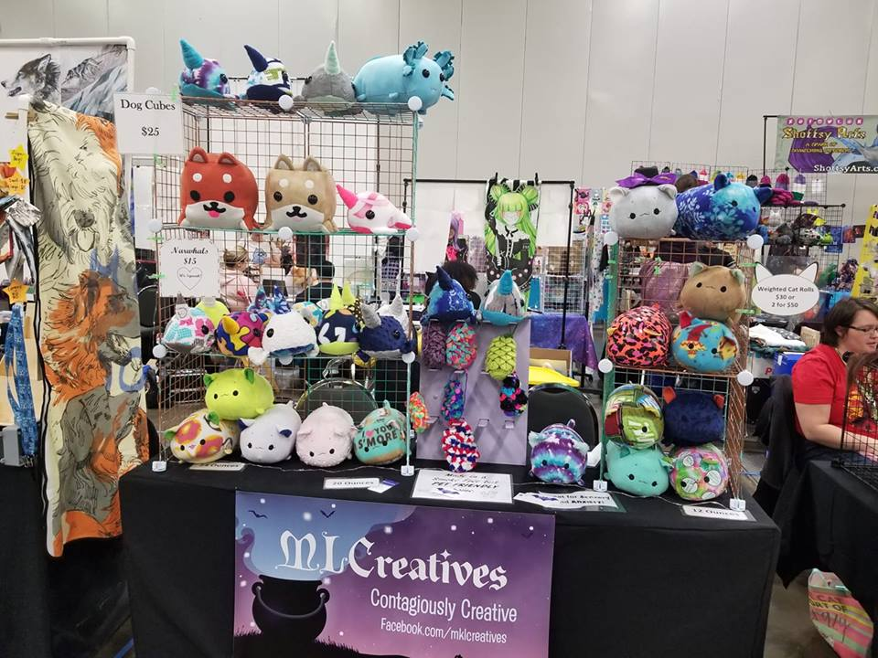 ML Creatives - MLCreatives is a small business that focuses on creating weighted stuffed animals which are specifically designed for people with sensory and anxiety problems. See pictures below and check out their Facebook page at www.facebook.com/MKLCreativesBe sure to stop by their booth and check out their amazing items! Welcome to WillCon MLCreatives!!!