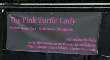 Pink Turtle Lady - We would like to take a moment to welcome The Pink Turtle Lady to WillCon!The Pink Turtle Lady will have awesome items such as buttons, magnets and 8-bit style perler beads to sell. Their booth will also include handmade totes, clutches, dice bags, zipper bags and more! Designs vary from video games, comics, tv shows, movies and wrestling. They also do custom orders!Check them out on Facebook under The Pink Turtle Lady and be sure to stop by their booth!Welcome to WillCon Pink Turtle Lady!