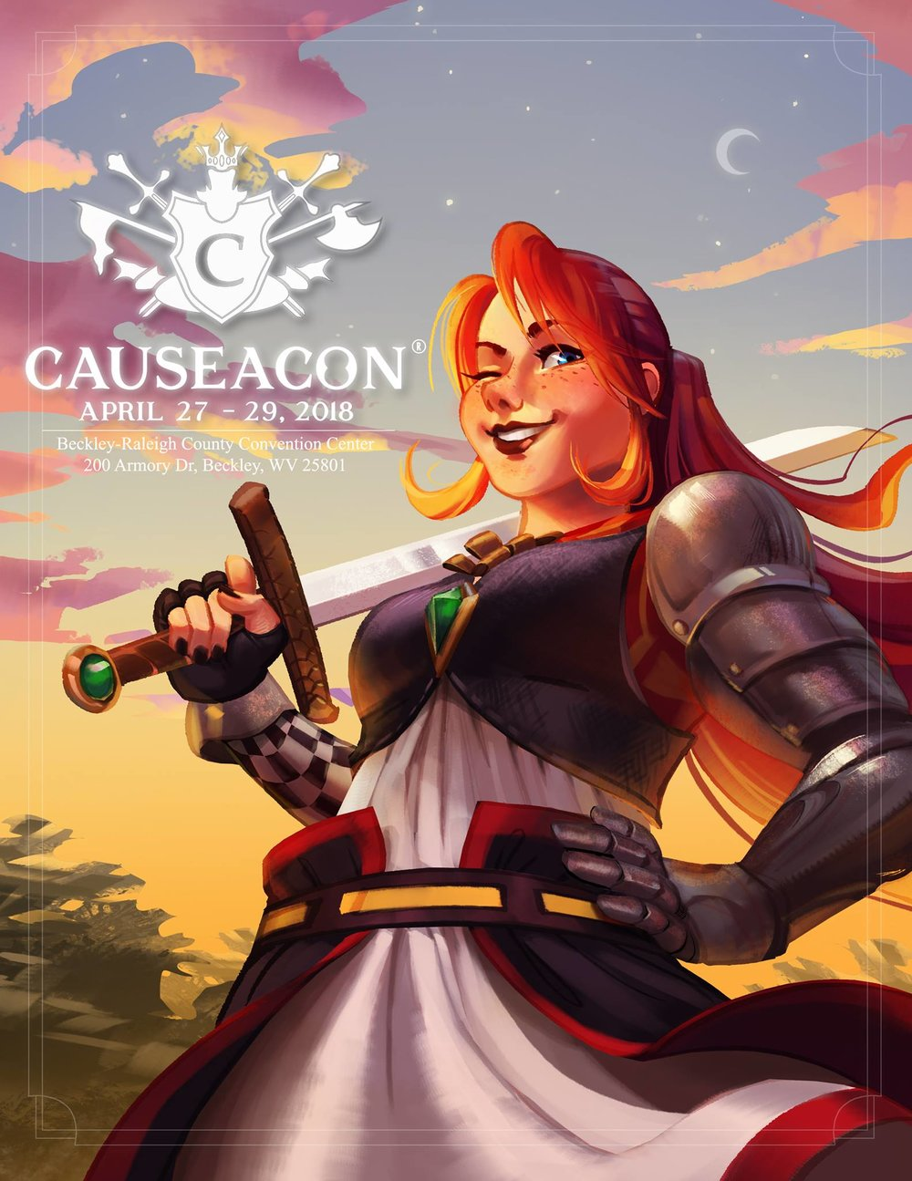 Causeacon - Causeacon® is Beckley's first ever Pop Culture convention which includes all fandoms from anime to Star Wars, gaming and so much more! All proceeds of the convention will benefit the Women's Resource Center right here in Beckley WV. We will be offering a variety of activities at The Beckley-Raleigh County Convention Center including: cosplay contests, video game and table top tournaments, vendor room, panels and classes, anime screening room, game shows, raves and a formal ball! You can benefit this community just by attending and having a great time!