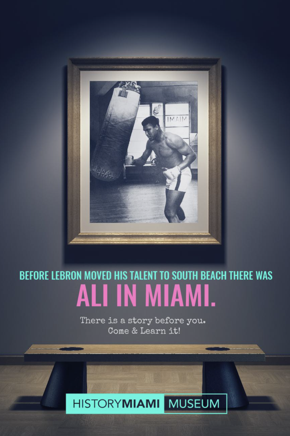- We are telling the public a part of history they might have missed. We connect today's events, objects, and people with Miami's past. By placing the text in a way that entices the public to read its entirety, after being teased by a big headline, history is presented visually, to imply ownership and patrimony.