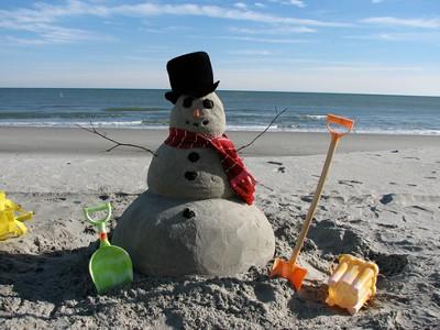 Beach Sand Snowman