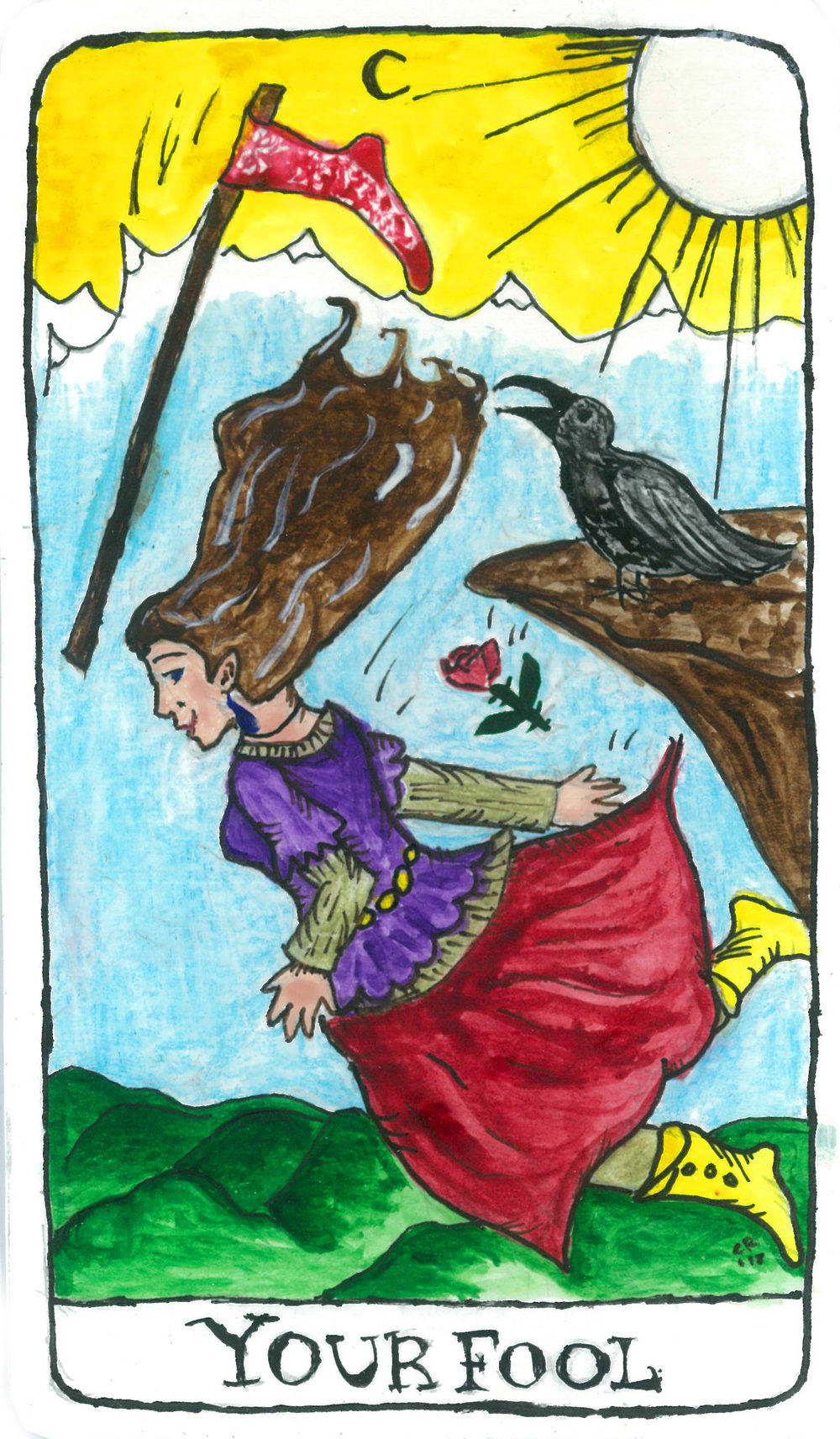 My beautiful faux tarot card by Calvaleigh Rasmussen