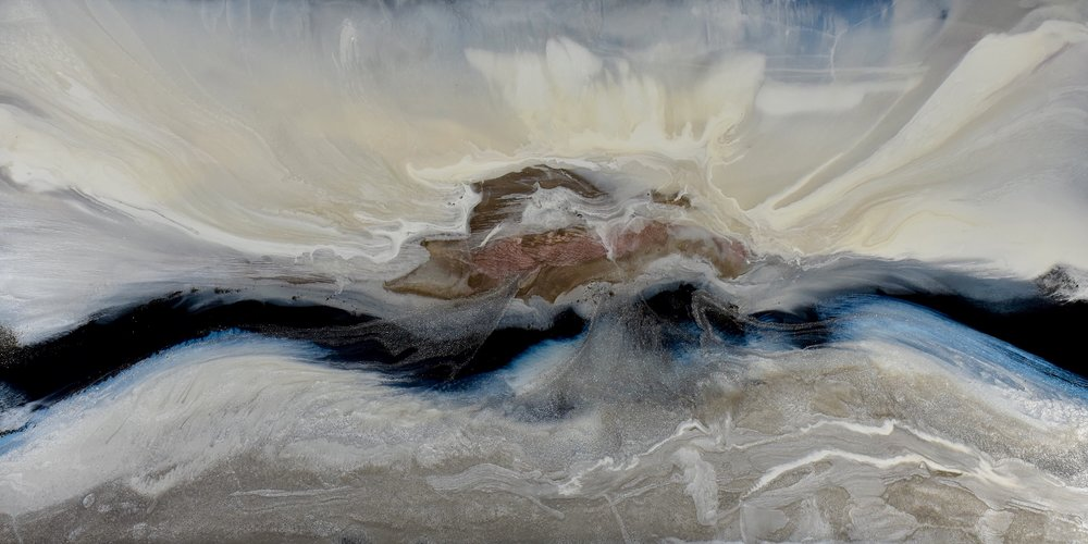 """A New Horizon"" Mixed Media on Canvas 24""x48"" $2000.00"