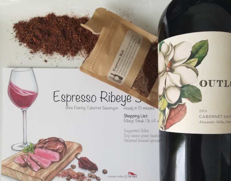 Each kit contains: - Bottle of wineSpice packetRecipe card Where you go from there is up to you. Keep it casual and make a single course with your choice of side. Alternately, get date night fancy and make a three-course meal.