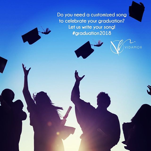 Want to make your graduation day even more special? Then let us write your graduation song! #graduation #graduationcap #graduationparty #graduation2018 #graduationday #graduationgift #customsong