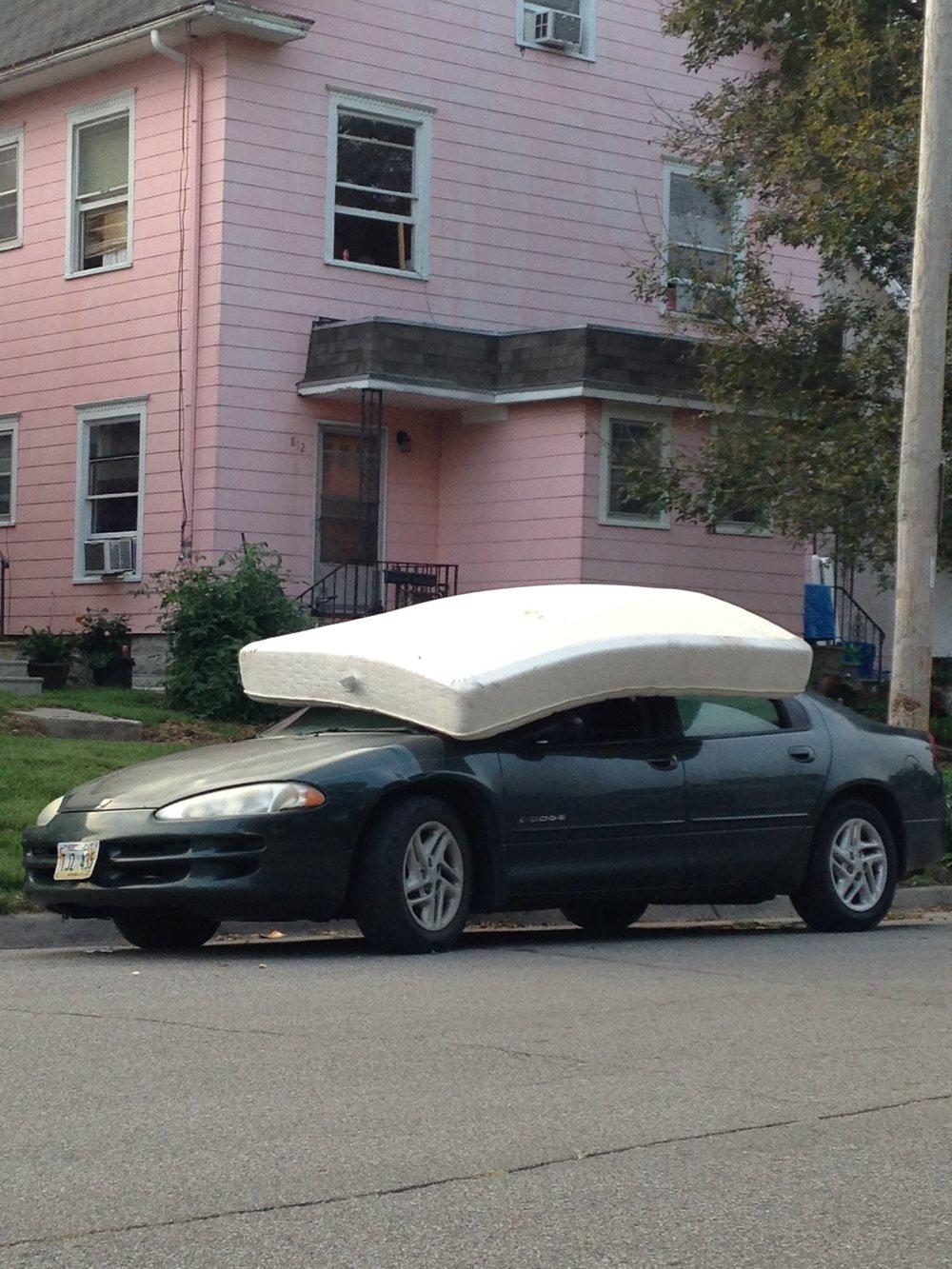 mattress on a chevy