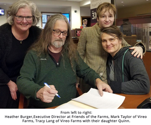 Vireo Hydroponic Farm paper signing photo