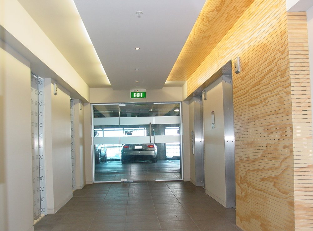 commercial lumley building; 3 Levels foyer upgrades and work for missing fire protection whilst remaining operational