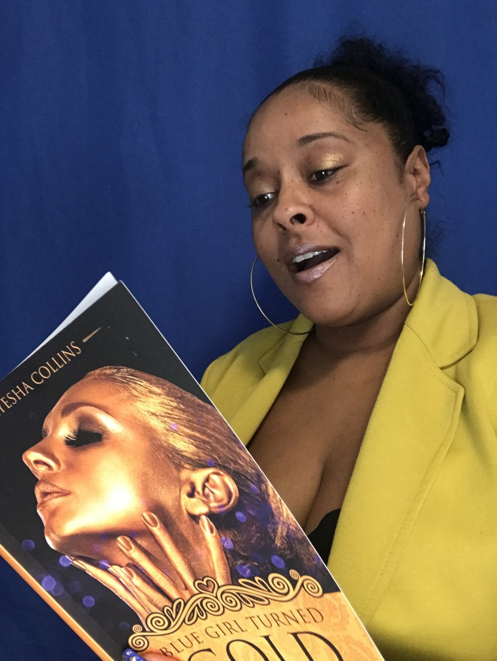 Blue Girl Turned Gold - Transformation Anthology