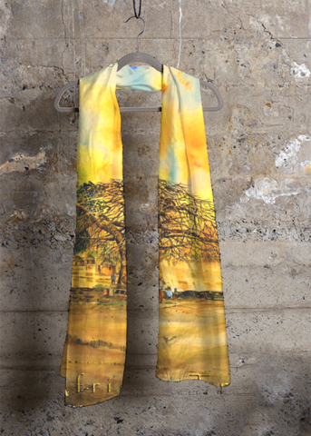 African Tree Cashmere Modal Scarf.png