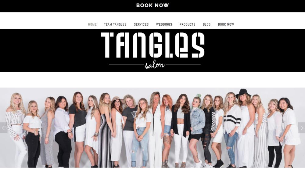 SALON View:   Tangles Salon