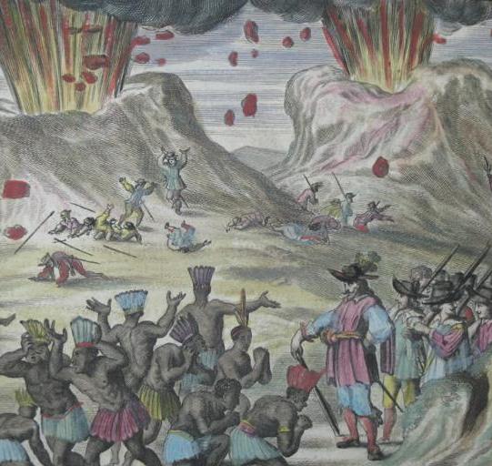 Eruption of Popocatepetl and Iztaccíhualtl volcano (Mexico) Montanus