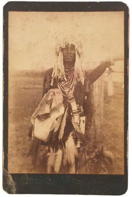Sioux man taken by H T Marshe