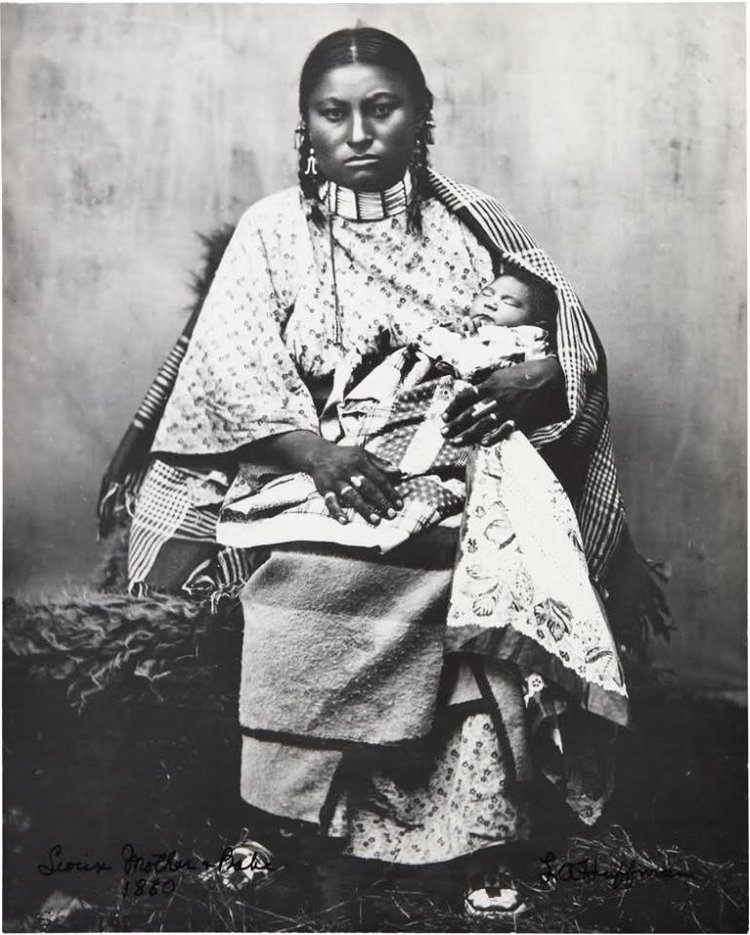 Sioux Mother and Babe