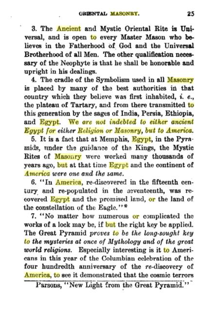 Ancient Mystic Oriental Masonry By R. Swinburne Clymer