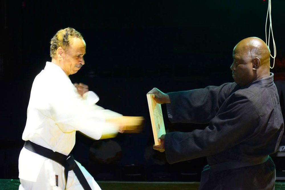 On Right:  Orlando Redwood expert in Shotokan  Karate