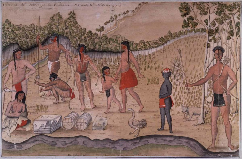 """1735 """"Indians of several Nations bound for New Orleans""""."""