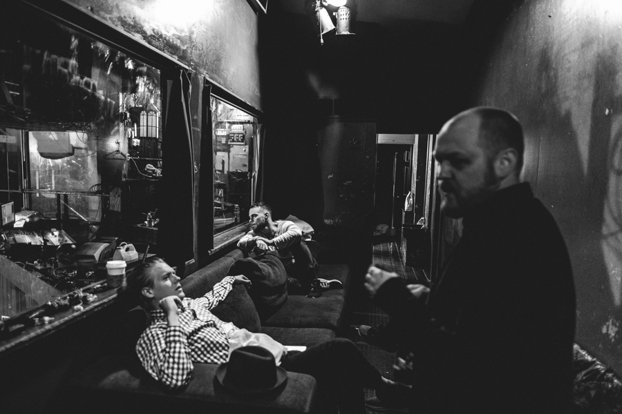 Backstage at the Troubadour in LA.