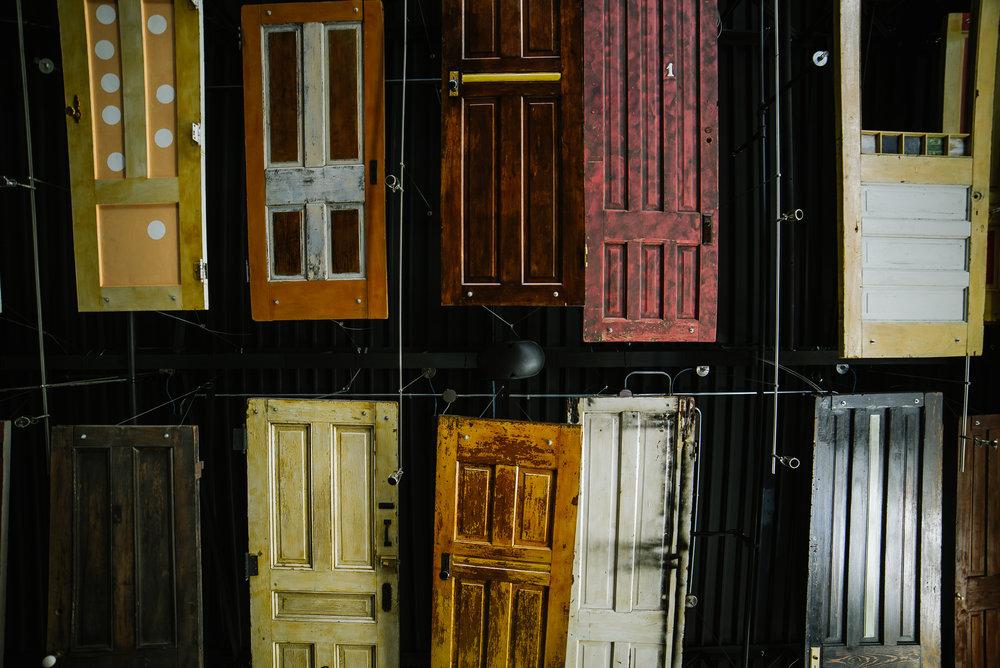 Alba Des Moines, Iowa Restaurant Handing Doors