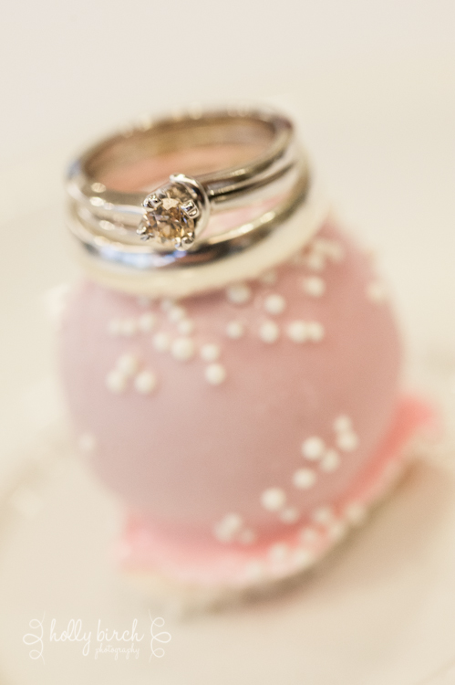 cake ball wedding rings