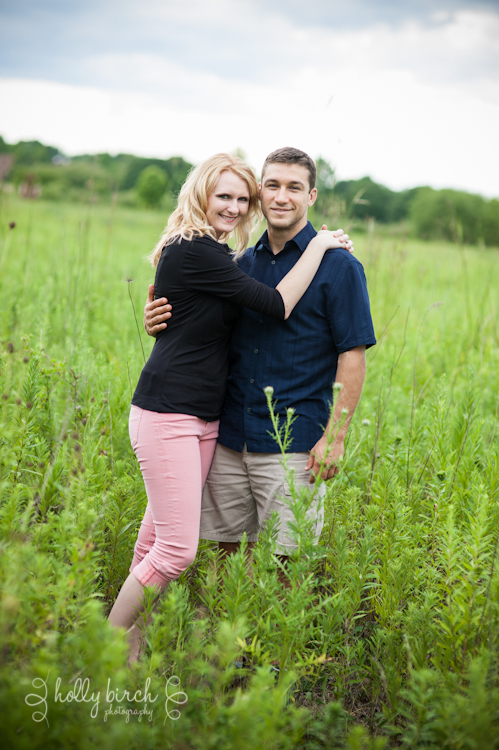 Meadowbrook Park Urbana engaged couple