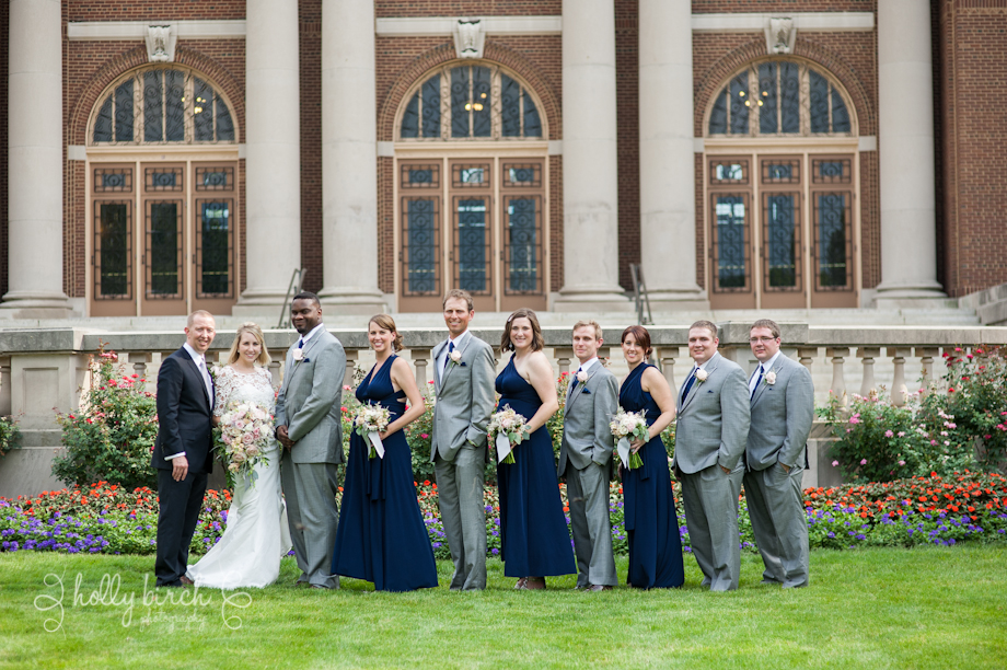 Foellinger Auditorium wedding party