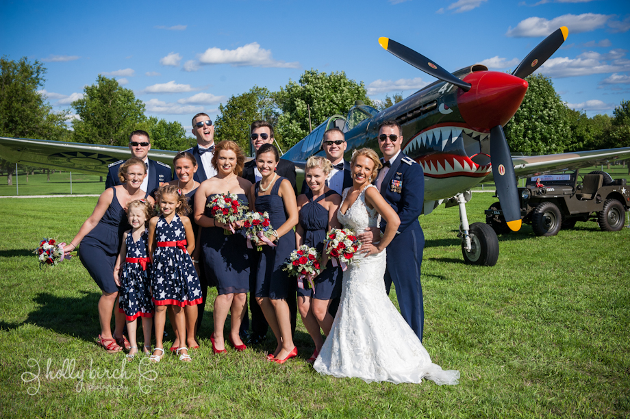 American wedding party