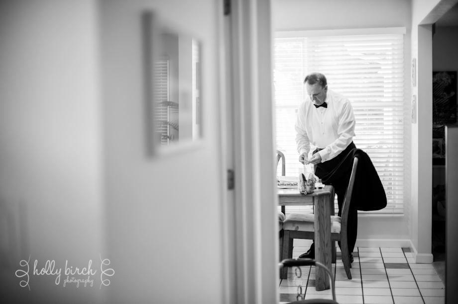 Bride's dad prep