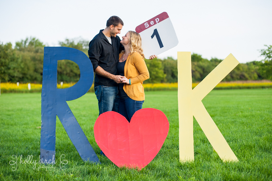 cardboard letters save-the-dates