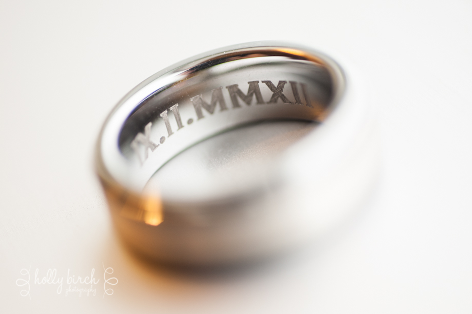 Groom's ring engraved