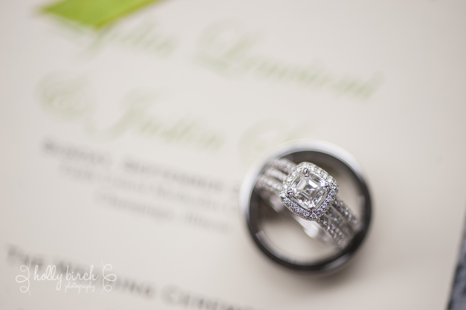 wedding rings & program
