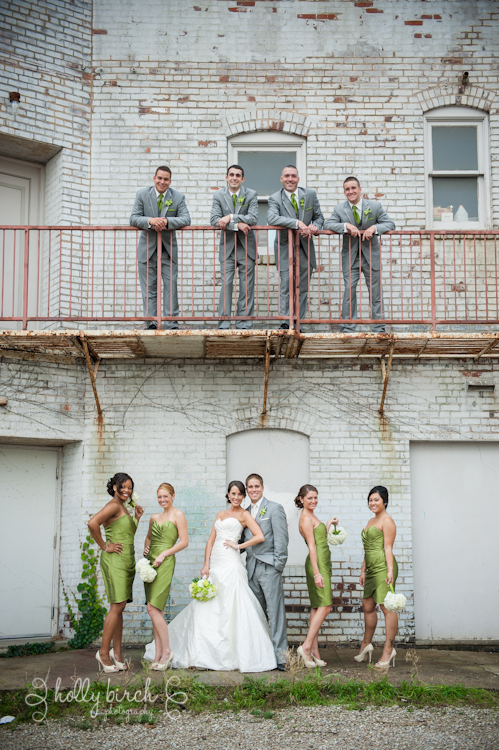 urban wedding party downtown Champaign