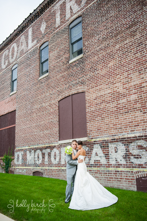 bride groom abandoned warehouse downtown Champaign